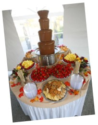 Wedding Reception Chocolate Fountain - ART Catering & Events